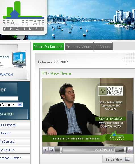 Video Openhouse on the Real Estate Channel